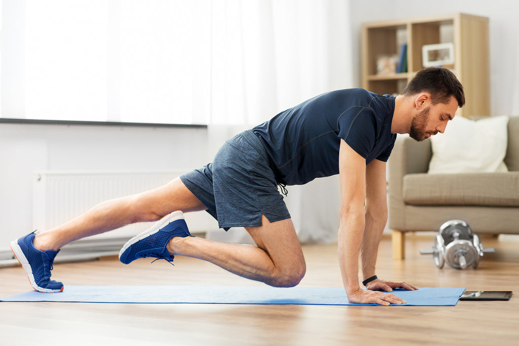 man does home workout to see does exercise lower blood sugar