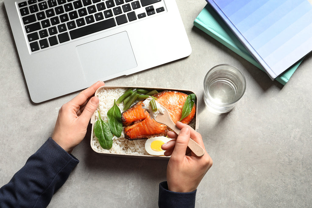 meal planning ideas: Man preparing meal on top of table