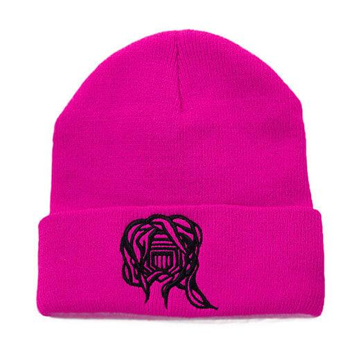 Castle Addict Hot Pink and Black Beanie