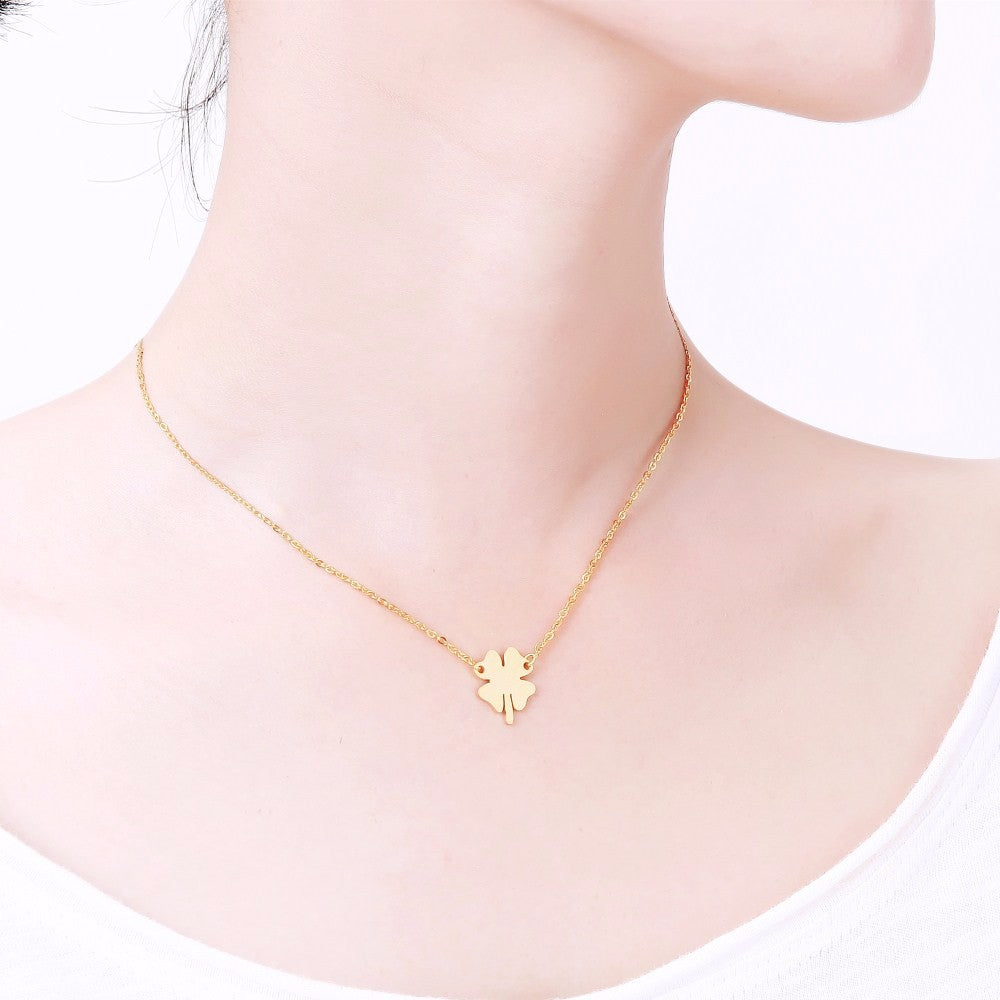 products necklace boho style clover flower silver nunu pendant leaf related img sterling gold jewellery little star rose four