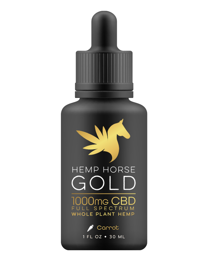 1000mg CBD Carrot Tincture for Horses