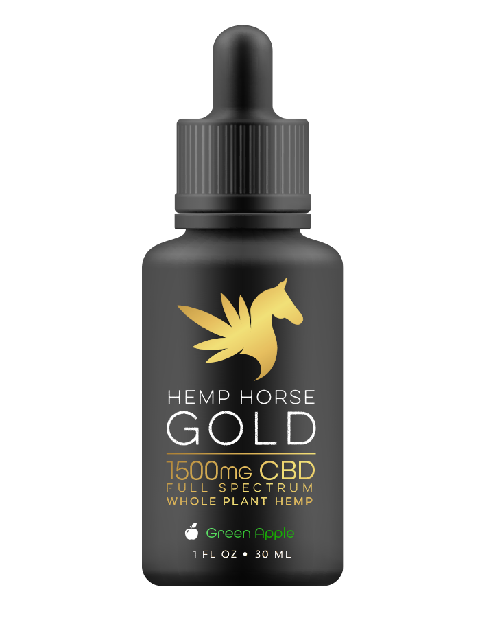 1500mg CBD Green Apple Tincture for Horses