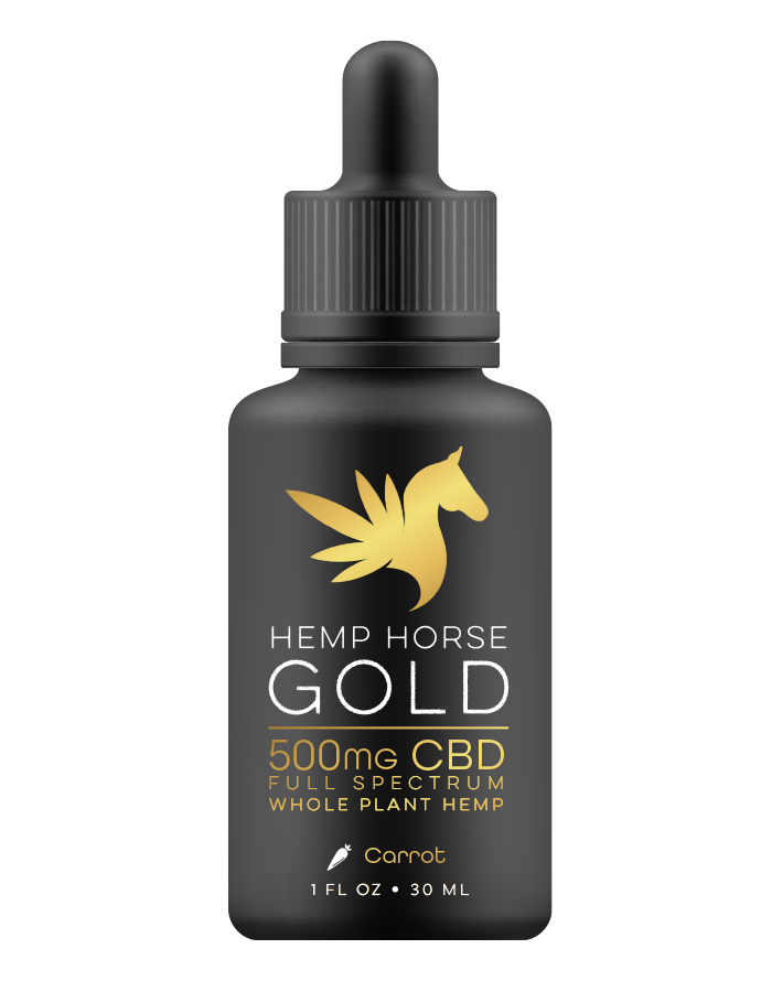 500mg CBD Carrot Tincture for Horses
