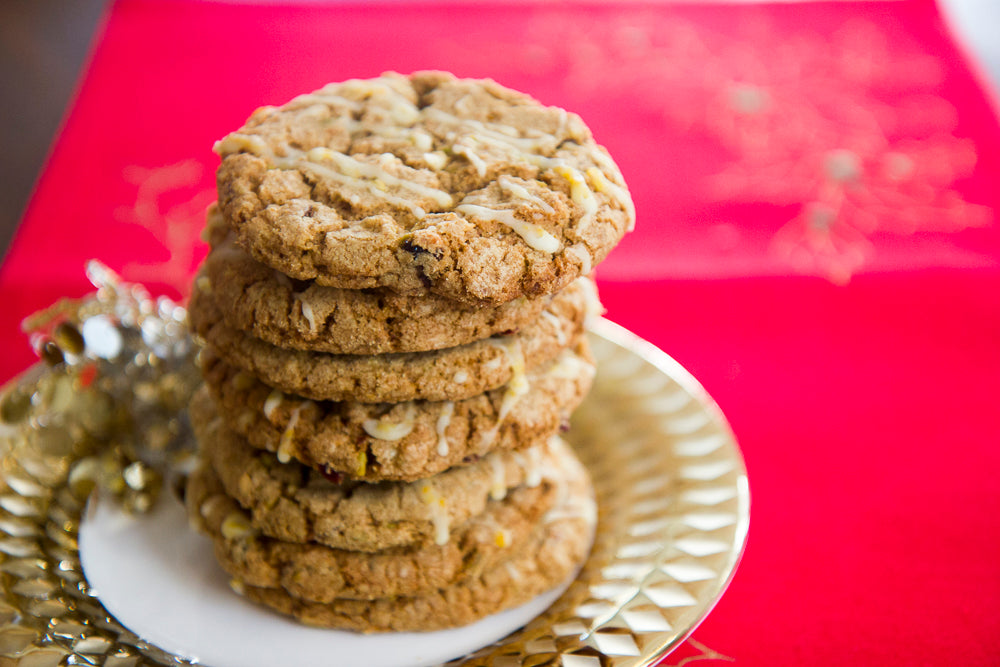 White Chocolate Pistachio Cranberry Cookies