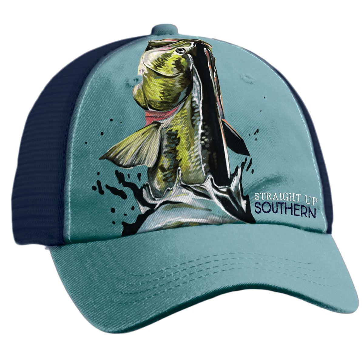 Bass Leaping Mesh Hat