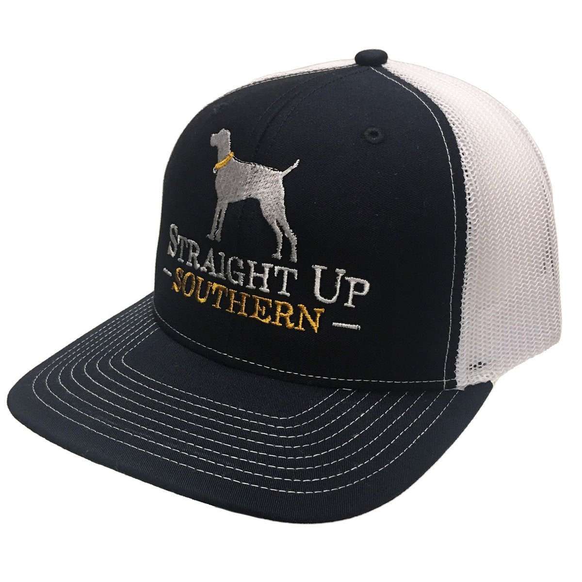 Dog Navy White Richardson Mesh Hat
