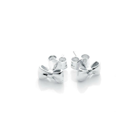 Stolen Girlfriends Club Baby Bow Earrings - Silver Womens jewerally / Earrings / High polish sterling silver  / Baby Bow Earrings / Sold as pair