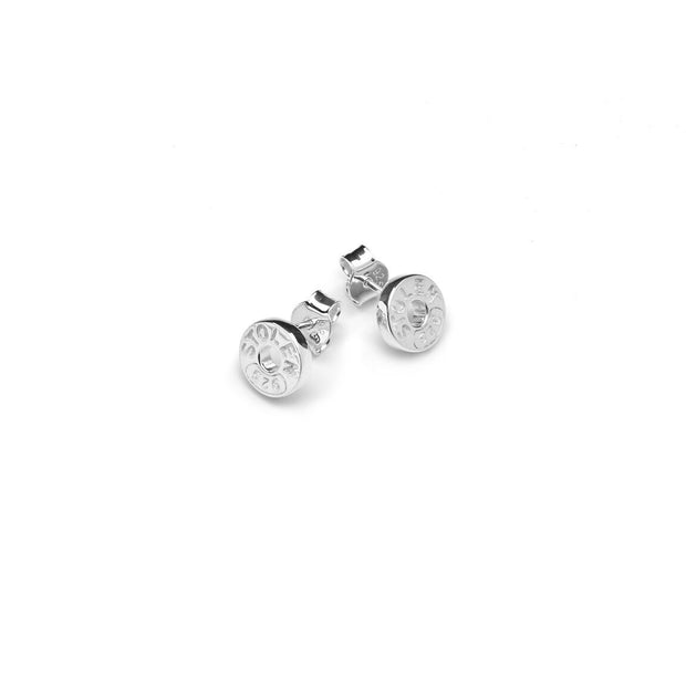 Stolen Girlfriends Club Sleeper Stud Earrings - Silver Womens jewerally / Stud earrings / Sterling Silver with engraving / Sold as a pair