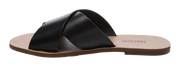 ANACAPRI FLAT CROSS SLIDES  The Anacapri Flat Cross Slides are everyones favourite summer sandal! Easy to slip on and go these slides are crafted with a soft leather upper that moulds to your foot for ultimate comfort. The Anacapri Flat Cross Slides come in a variety of colours and are versatile to be worn with any outfit.  - Sizes 36, 37, 38, 39, 40, 41, 42 - Leather Upper - Come in a variety of colours  - Slip on design