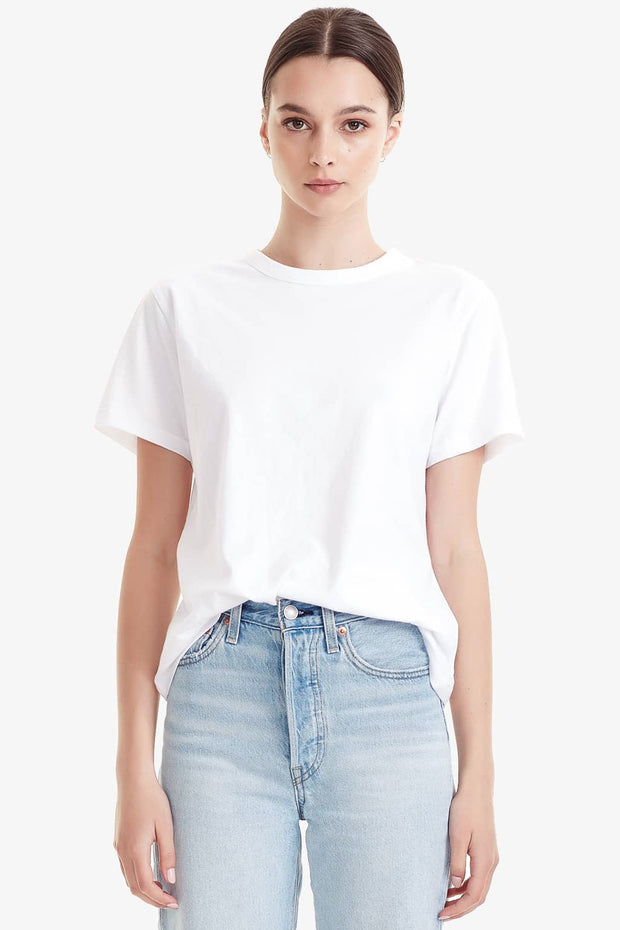 COMMONERS WOMENS ORGANIC COTTON CLASSIC TEE - WHITE  The Commoners Womens Organic Cotton Classic Tee is an essential wardrobe staple, wear it alone or layered. Crafted from soft and breathable Organic Cotton, The Organic Cotton Classic Tee features a classic crew neckline, and single stitched hemline and sleeves, these are the ultimate basic tee!