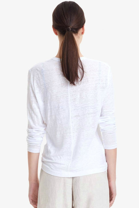 COMMONERS WOMENS LINEN CLASSIC LS TEE  The Commoners Womens Linen Classic LS Tee is an essential wardrobe staple, wear it alone or layered. Crafted from soft and breathable Linen, The Linen Classic LS Tee features a classic crew neckline, and single stitched hemline and sleeves, these are the ultimate basic tee! Team The Commoners Womens Linen Classic LS Tee back with your favourite shorts and sandals for an effortless casual look, these tees can easily be worn with anything.