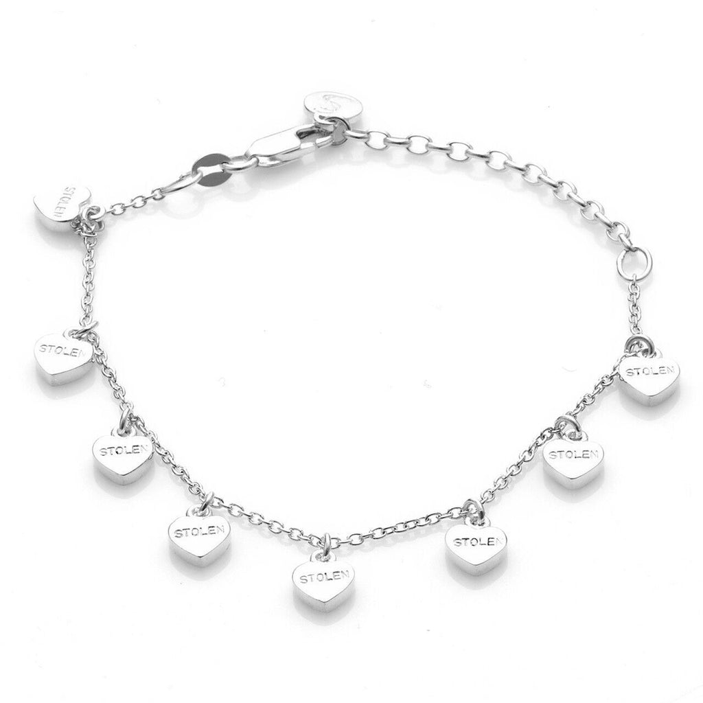 Stolen Girlfriends Club Stolen Heart Bracelet - Silver Womens jewerally / Bracelet / High polish sterling silver stolen heart bracelet / 19cm length