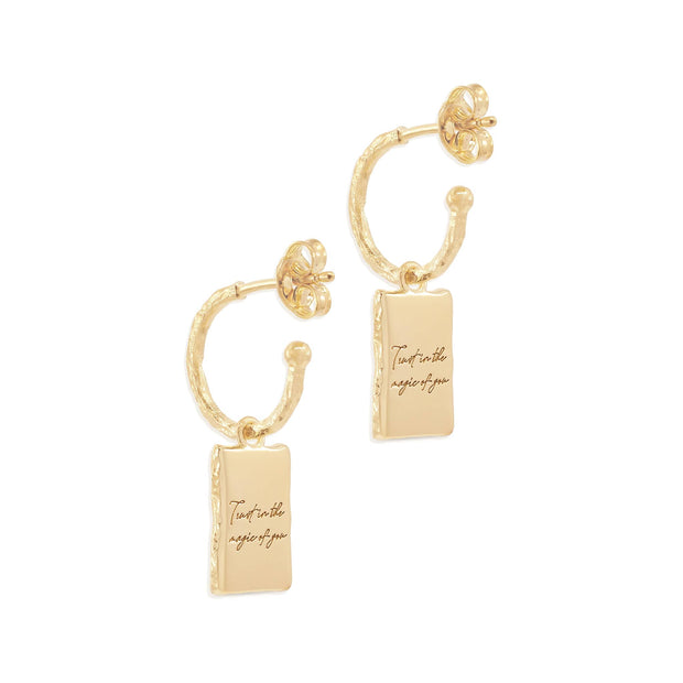 BY CHARLOTTE MAGIC OF YOU HOOPS  The By Charlotte Magic Of You Hoops are gorgeous feminine hoops, which can be worn to add some simple sophistication to any outfit.