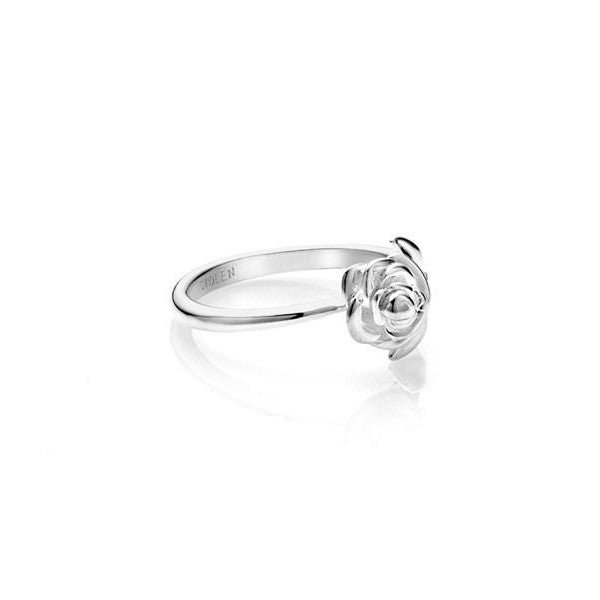"STOLEN GIRLFRIENDS CLUB STEM ROSE RING  The Stolen Girfriends Club Stem Rose Ring is a dainty ring featuring signature 'Stolen"" engraving inside the band, and one rose connected to a stem which leads onto the band, simple yet sophisticated.  - 925 Sterling Silver - Comes in a Stolen Girlfriends Club Box  Size Small = L / US 5 3/4 Size Medium = P / US 7 3/4 Size Large = T / US 9 3/"