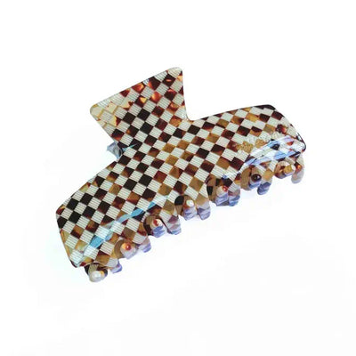 Buttermilk Accessories Hair Claw Kiana - Brown Check