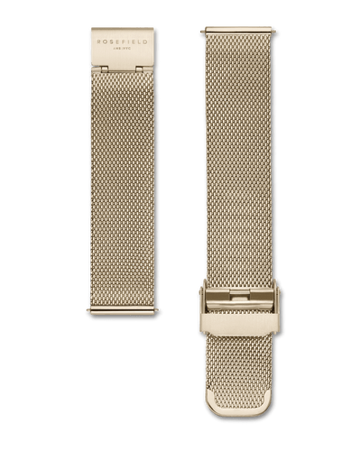 - Gold Plated - Stainless Steel Mesh - Adjustable Strap (Minimum- 15cm, Maxiumum- 21cm) - Starp can be interchanged with; Bowery Collection, Gramercy and Mercer