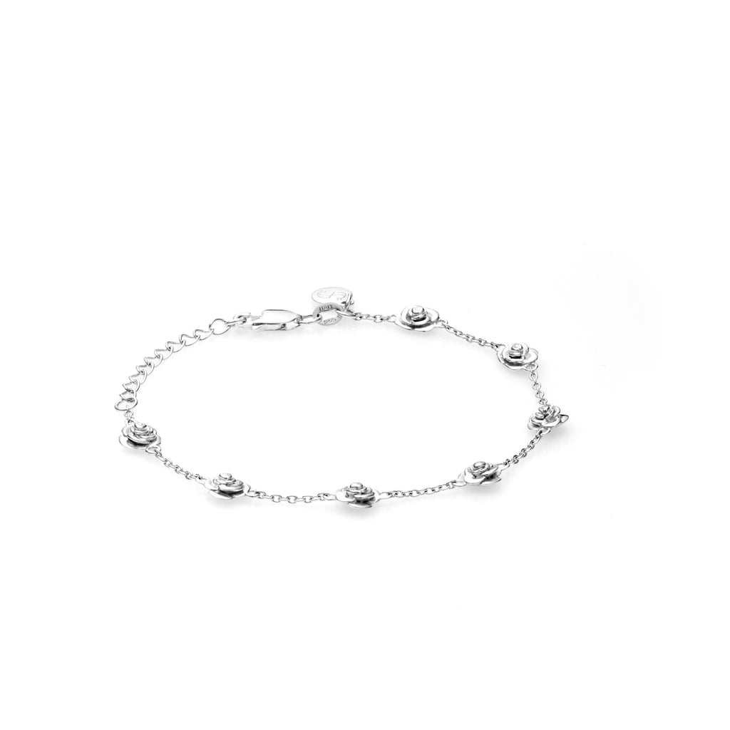 Stolen Girlfriends Club Rose Bud Bracelet - Silver Womens bracelet / 925 Sterling Silver / 17cm + 3cm