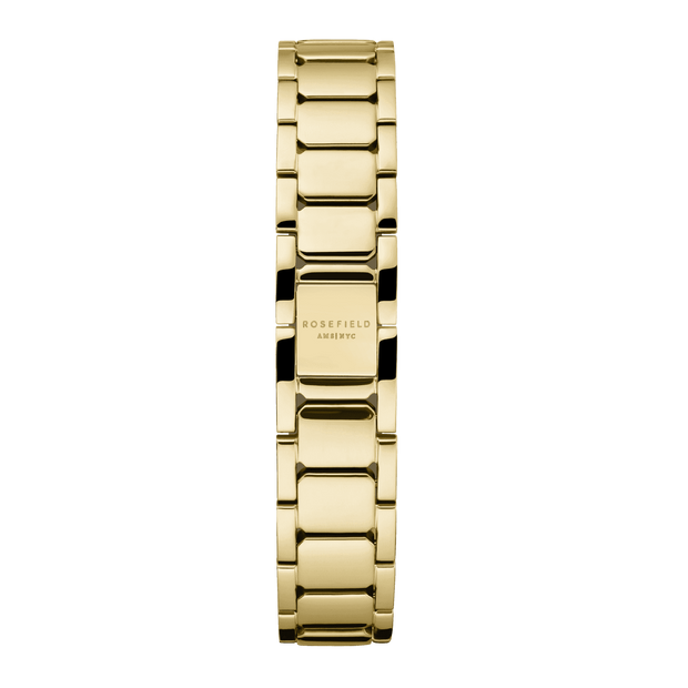 ROSEFIELD TRIBECA 33 WATCH - WHITE/GOLD  The Rosefield Tribeca 33 Watch is a minimalist style watch, now available in timeless White/Gold. The Tribeca 33 Watch features a white 33mm face, with a sunray etching dial and a gold plated stainless steel strap which can be interchangeable. The Rosefield Tribeca 33 Watch is a great watch staple and can be worn daily and for any occasion.