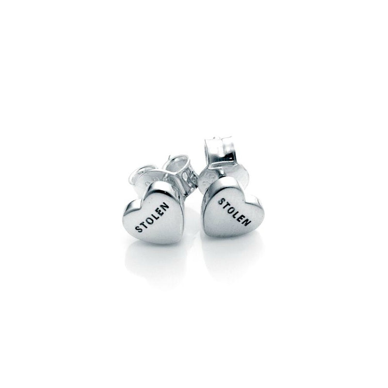 Stolen Girlfriends Club - Stolen Heart Earrings - Silver Womens jewellery / Earrings / High polish sterling silver Stolen Heart Earrings / Sold as pair / 7mm x 6.5mm
