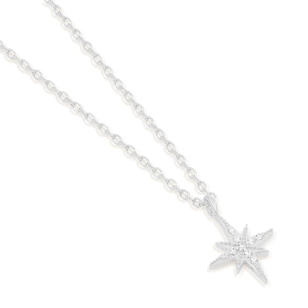 BY CHARLOTTE STARLIGHT NECKLACE  The By Charlotte Starlight Necklace is a stunning dainty necklace bound to dress up any outfit. The Starlight Necklace features a fine chain suspending a dainty Star charm which is encrusted with crystals. Simple yet sophisticated, team the By Charlotte Starlight Necklace back with any of your outfits, wear daily, or for occasion wear.