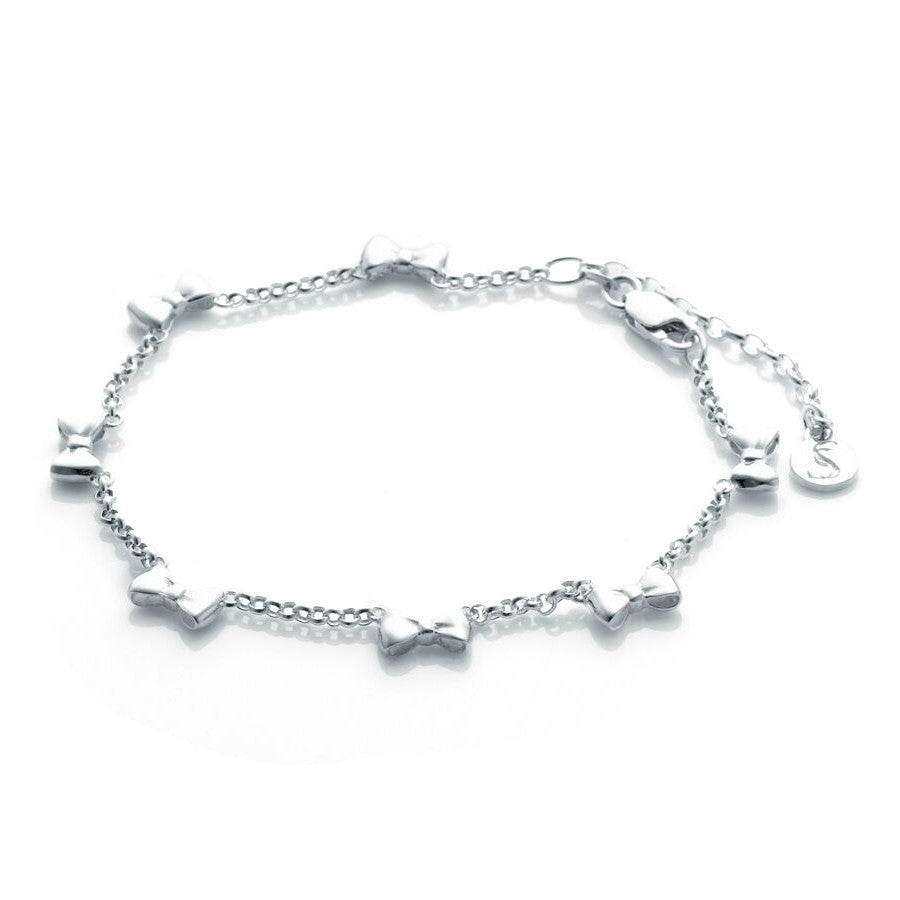 Stolen Girlfriends Club Baby Bow Bracelet Jewellery / Bracelet / High polish sterling silver bow bracelet / 19cm length
