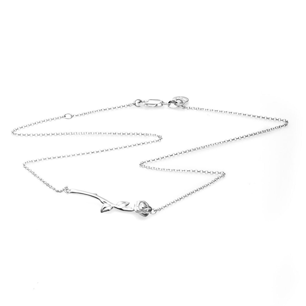 Stolen Girlfriends Club Rose Bar Pendant - Silver Jewellery / Rose bar pendant / 925 Sterling Silver / 48cm chain
