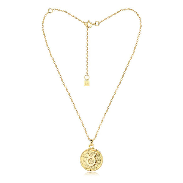 F + H ZODIAC NECKLACE - GOLD  The F + H Zodiac Necklace is a dainty gold plated necklace, and features a fine chain, with a clasp to close and extra chain to lengthen. Each Zodiac Necklace features a individual zodiac symbol. Wear the F + H Zodiac Necklace to add some detail to any outfit. '