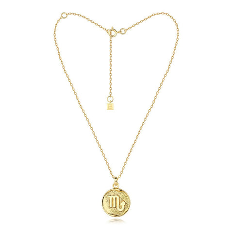 F + H ZODIAC NECKLACE - GOLD  The F + H Zodiac Necklace is a dainty gold plated necklace, and features a fine chain, with a clasp to close and extra chain to lengthen. Each Zodiac Necklace features a individual zodiac symbol. Wear the F + H Zodiac Necklace to add some detail to any outfit.
