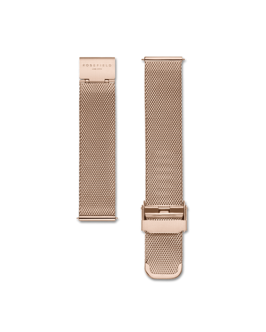 Rosefield Watch Mercer - Black / Rosefield Mesh Womens watch / Ultra-thin 8mm rose gold-plated case. Diameter: 38mm / Rose gold-plated stainless steel mesh strap. The strap can be easily​ ​adjusted to a minimum length (perimeter) of 15 cm and a maximum of 21 cm / Black dial detailed with rosegold hands and indexes / Durable Japanese Quartz movement / 3 ATM water-resistant