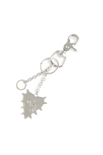 STOLEN GIRLFRIENDS CLUB SPIKED HEART KEYRING  Accessorize your keys, bags and more with a Stolen Girlfriends Club Spiked Heart Keyring!  The Spiked Heart Keyring features a plug-chain, enabling you to hang this on a bag as a charm, or hang from your rear-view mirror in the car, or anywhere you please! - Silver toned hardware - Plug chain and key loops - Branded Stolen Hardware - Comes with Stolen Girlfriends Club dust bag