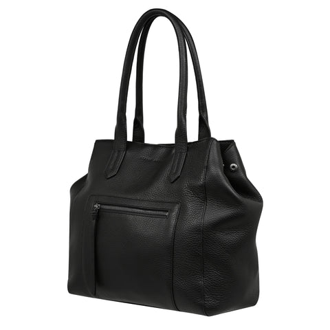 STATUS ANXIETY ABANDON TOTE BAG - BLACK  The Status Anxiety Abandon Tote is an updated take on the classic tote, its perfect for us babes who prefer a larger sized bag!