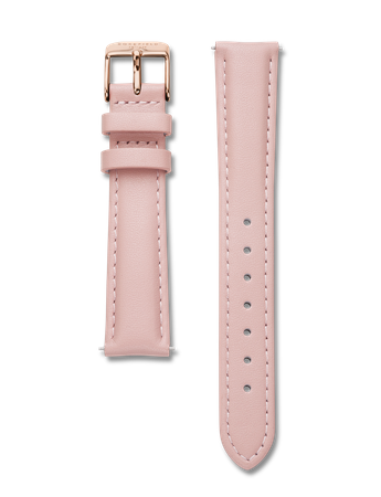 Rosefield Strap - Tribeca Pink Leather / Rosegold Clasp Watch strap  / Stitched genuine leather strap / Pink with rosegold clasp /  33mm lenth and 16 mm width / Interchangeable with the straps within the Tribeca, West Village, Upper East Side and September Issue collection