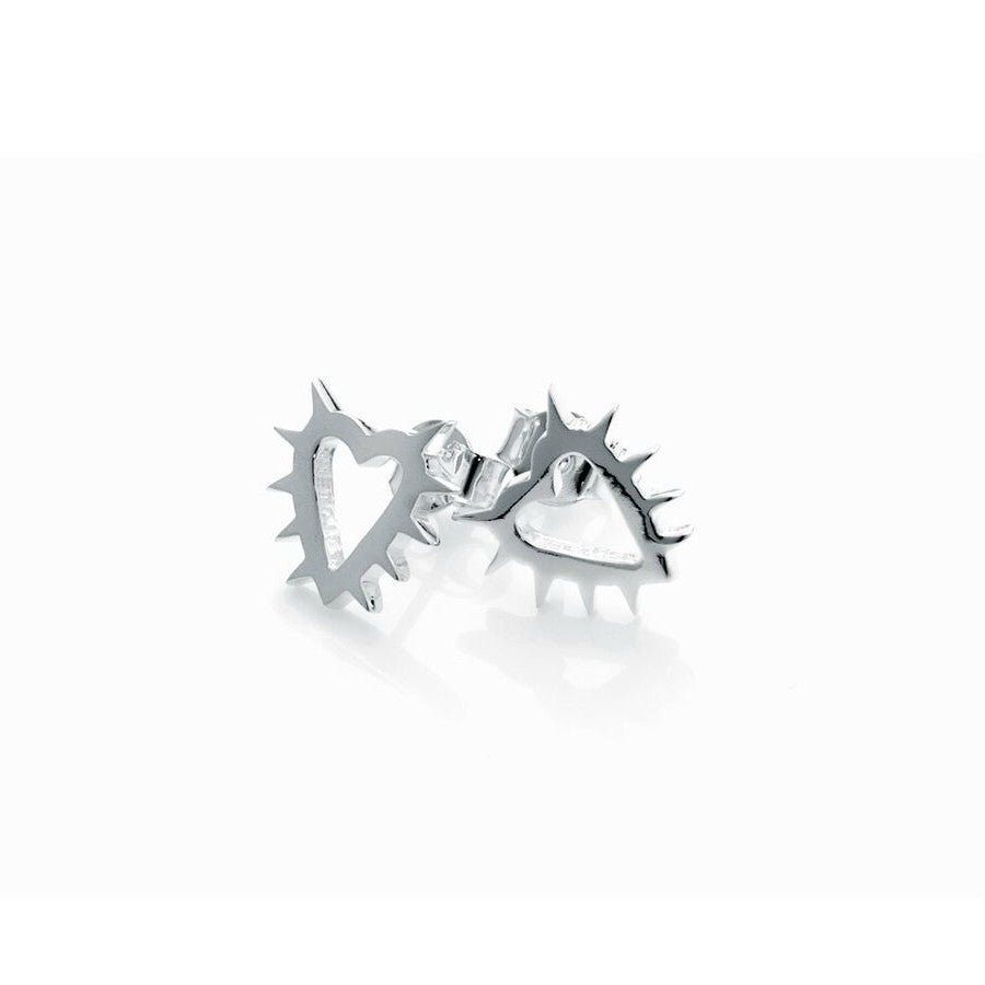 Stolen Girlfriends Club Spike Earrings - Silver Womens jewellery / Earrings / High polish sterling silver / Sold as pair
