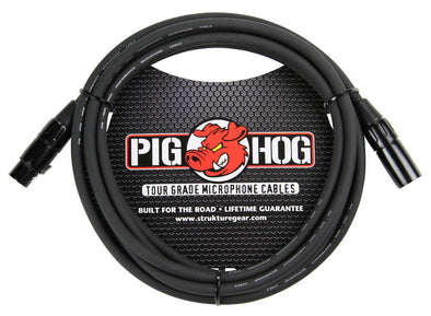 Pig Hog 8mm Mic Cable, 10ft XLR