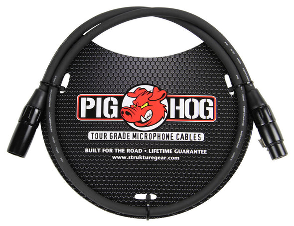 Pig Hog 8mm Mic Cable, 3ft XLR