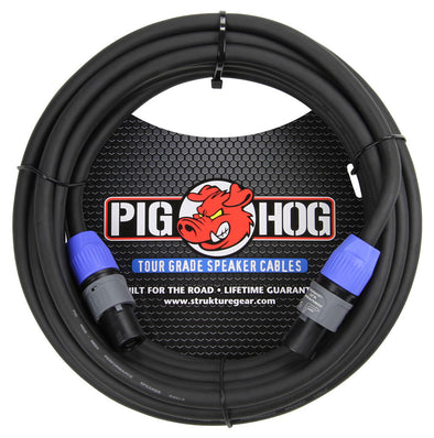 Pig Hog 50ft Speaker Cable, SPKON to SPKON
