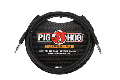 "Pig Hog 6ft 1/4"" TRS - 1/4"" TRS Cable"