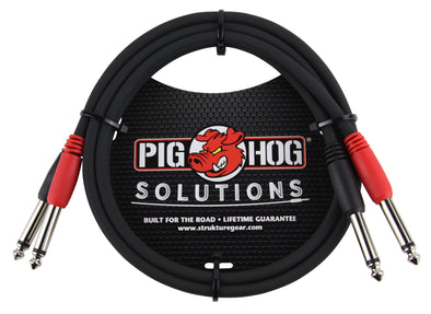 "Pig Hog Solutions - 3ft 1/4""-1/4"" Dual Cable"