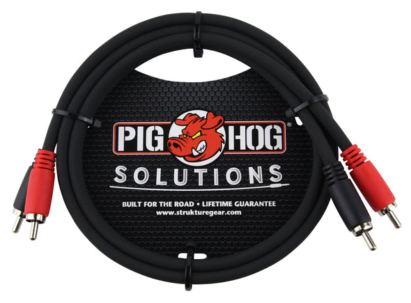 Pig Hog Solutions - 3ft RCA-RCA Dual Cable