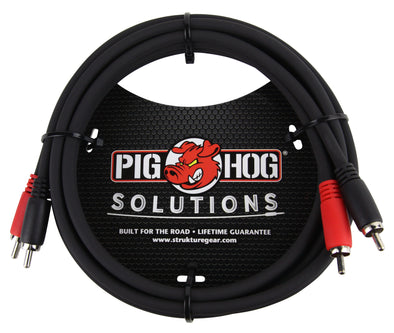 Pig Hog Solutions - 6ft RCA-RCA Dual Cable
