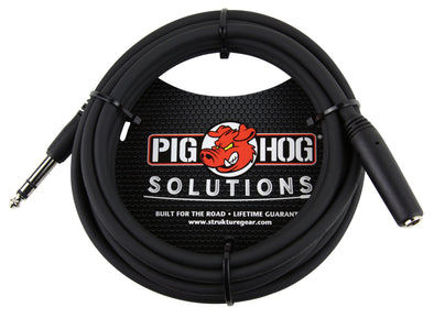 Pig Hog Solutions - 10ft Headphone Extension Cable, 1/4""