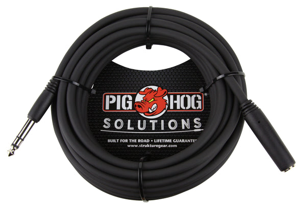 Pig Hog Solutions - 25ft Headphone Extension Cable, 1/4""