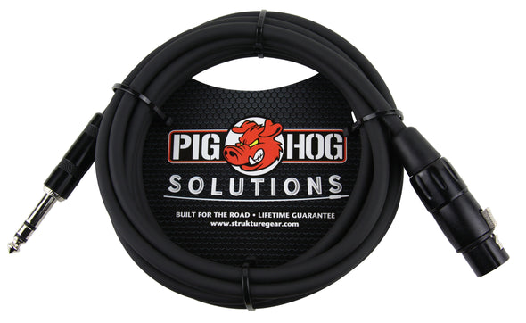 Pig Hog Solutions - 10ft TRS(M)-XLR(F) Balanced Cable