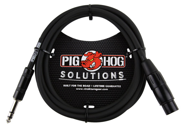 Pig Hog Solutions - 6ft TRS(M)-XLR(F) Balanced Cable