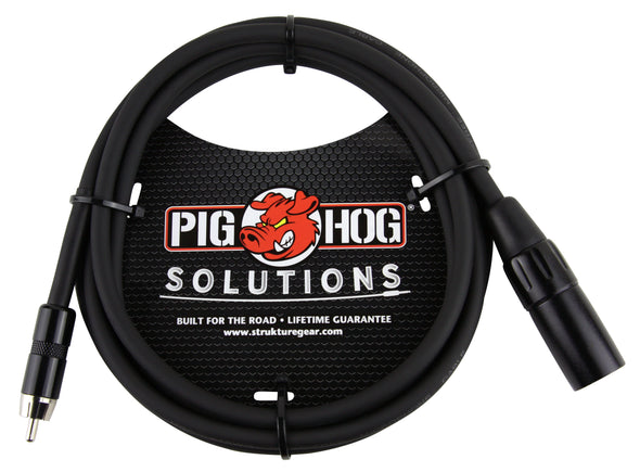 Pig Hog Solutions - 6ft XLR(M)-RCA Cable