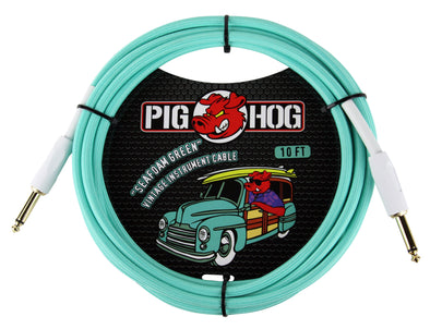 "Pig Hog ""Seafoam Green"" Instrument Cable, 10ft"