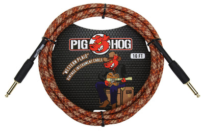 "Pig Hog ""Western Plaid"" Instrument Cable, 10ft"
