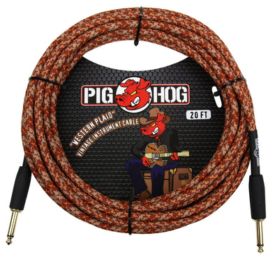 "Pig Hog ""Western Plaid"" Instrument Cable, 20ft"
