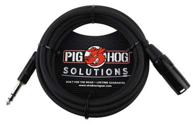 Pig Hog Solutions - 25ft TRS(M)-XLR(M) Balanced Cable