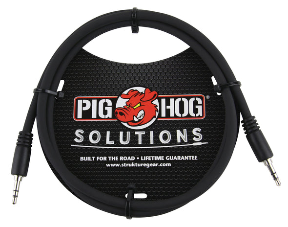 Pig Hog Solutions - 3.5mm TRS to 3.5mm TRS, 6ft cable